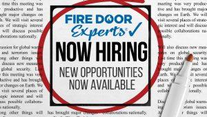 Fire Door Experts, now hiring Junior Estimator!