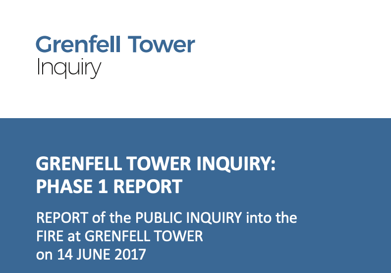 Grenfell Tower Inquiry - Phase 1 Report