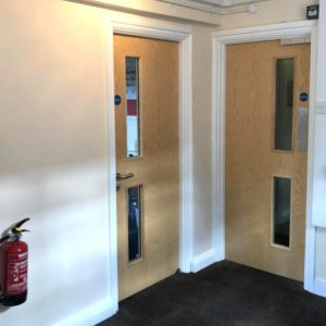 Sellings CofE School - fire door contractors, on time, to budget