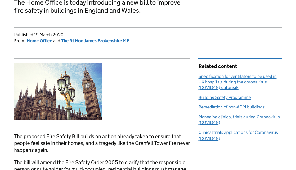 Fire door maintenance becomes law! New Fire Safety Bill