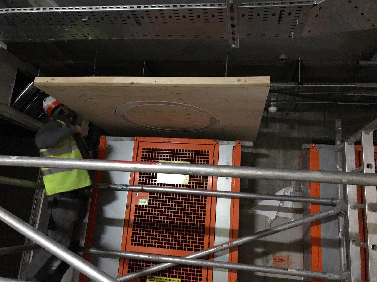 BWC team creating bespoke lighting panels